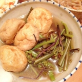 ワラビとゼンマイとがんもどきの煮物