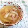 きのことベーコンの和風スープ