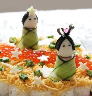 七夕に 織姫&彦星のピンチョス