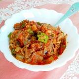 ノンオイル!夏野菜とお肉で簡単ラタトゥイユ風