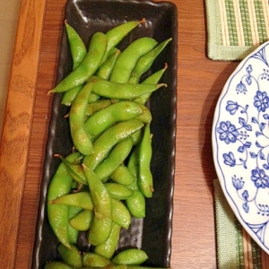 シンプルな枝豆炒め