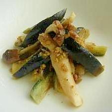 イタリアンに食べる水茄子漬。オリーブソテー