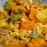 冷凍かぼちゃで! 「豚肉とかぼちゃの煮物」  ♪♪