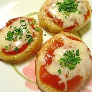 超簡単!プチピザ風、長芋の「トマトチーズ焼き」
