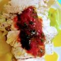 鶏ハムの梅肉ソース