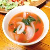 ほうれん草のトマトスープ