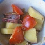トマトとさつまいもの味噌煮