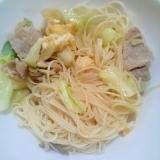 素麺☆肉野菜炒め