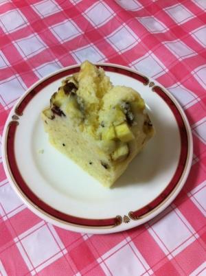 秋のスイーツ♡さつまいも&バナナのゴマケーキ