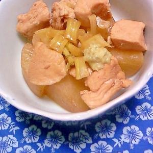 鶏肉と大根の煮物 きざみわさび添え