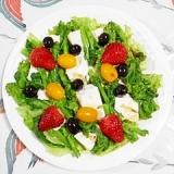 菜の花と塩とうふのサラダ