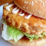 鶏ひき肉のつくねハンバーガー