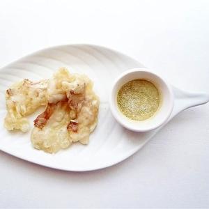 真鯛の天ぷら 抹茶塩添え