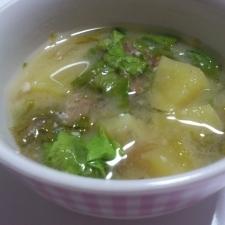 さつまいもと菜っ葉のお味噌汁☆