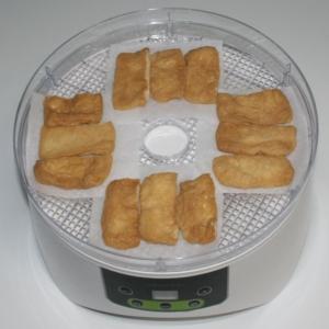 簡単☆おいしい☆食品乾燥機で乾燥いなりあげ