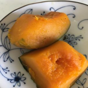 蒸しかぼちゃ♪バター醤油