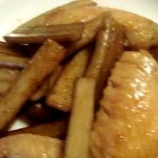 手羽先とゴボウの炒め煮
