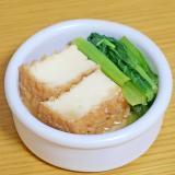 小松菜と厚揚げの煮浸し★減塩・低カリウム志向