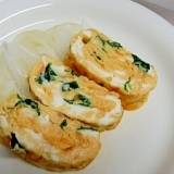 フライパンで作るギョウジャニンニクの卵焼き