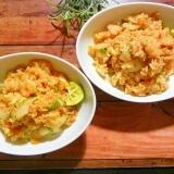 むきえびとタイ米でタイ風エビ炒飯