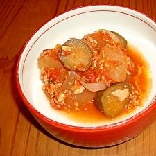 冷製!!冬瓜と鮭缶の簡単トマト煮