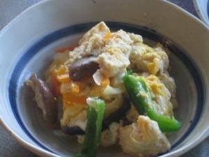 自家製「凍み豆腐」の卵とじ