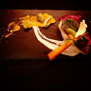 大人の焼き魚 目鯛のポワレ チーズチュイール添え