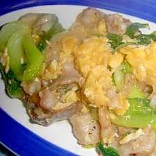麺つゆで味付け!だけど,中華風 豚バラ&卵いため