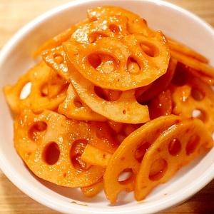 レンコンのピリ辛ケチャップ炒め