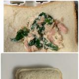 ほうれん草入りツナマヨのランチパック風サンドイッチ