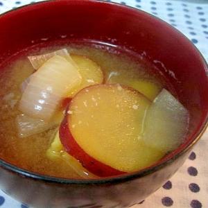 さつまいもと玉ねぎの味噌汁