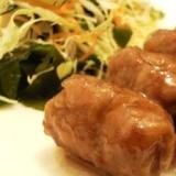 甘辛たれ☆高野豆腐の豚肉巻き