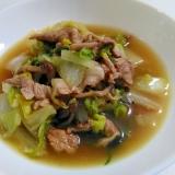 白菜消費☆豚肉と白菜の甘辛蒸し煮
