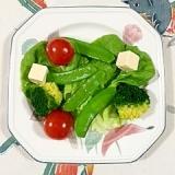 ブロッコリーとサラダ菜の簡単サラダ