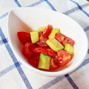 プチトマトとアボカドの生姜マヨポン和え