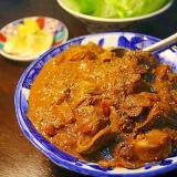 鶏肝のマサラ*鶏肝のインドカレー