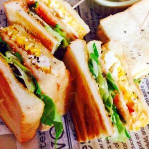 ★卵と水菜の香ばしいサンドなサンドイッチ!