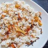 ひじき煮物の混ぜご飯