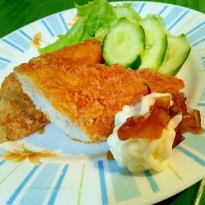 白身魚フライ 漬物タルタルソース添え