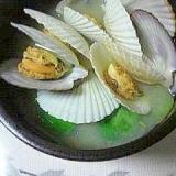 帆立の稚貝のお味噌汁