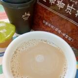 ホッと☆抹茶プーアールカフェオレ♪