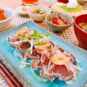 夏にピッタリ♡鰹のレアステーキ