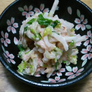 白菜と大根のたらこ和え