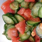 簡単一品☆きゅうりとトマトのポン酢和え