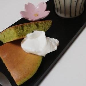 抹茶ホットケーキ
