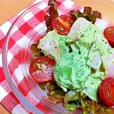 かくし味でおいしい☆アボカドとハムのサラダ