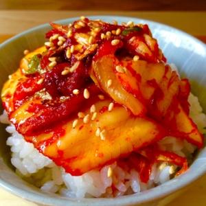 すぐに出来て美味しい♪焼きキムチ丼★
