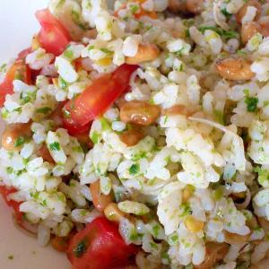 納豆とトマトの混ぜご飯