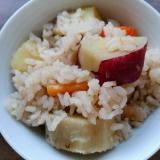 ゴロゴロ薩摩芋の炊き込みご飯