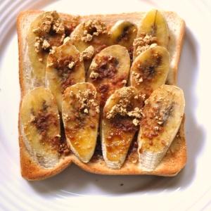 黒蜜きなこバナナトースト